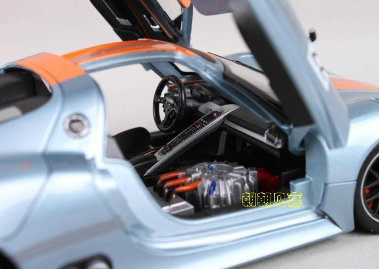 โมเดลรถเหล็ก โมเดลรถยนต์ Porsche 918 RSR 9