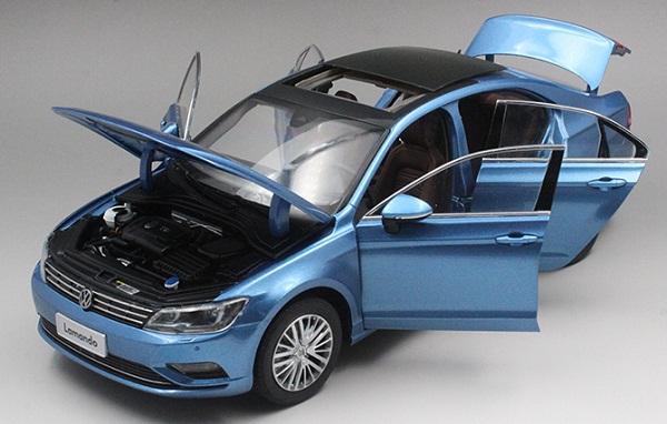 โมเดลรถ โมเดลรถเหล็ก โมเดลรถยนต์ Volkswagen Lamando น้ำเงิน 4