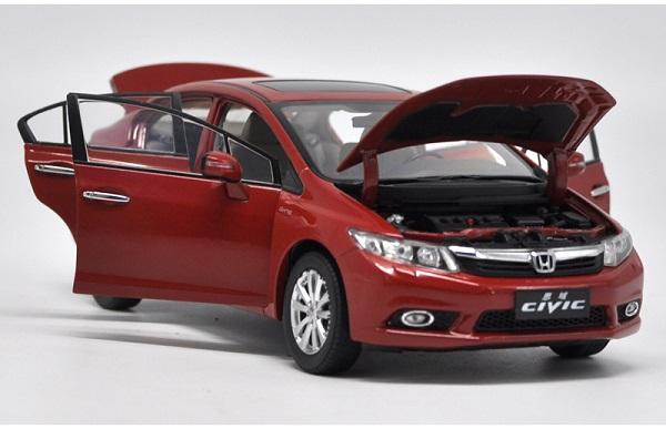 โมเดลรถ โมเดลรถเหล็ก โมเดลรถยนต์ Honda Civic 2009 9 gen red 4