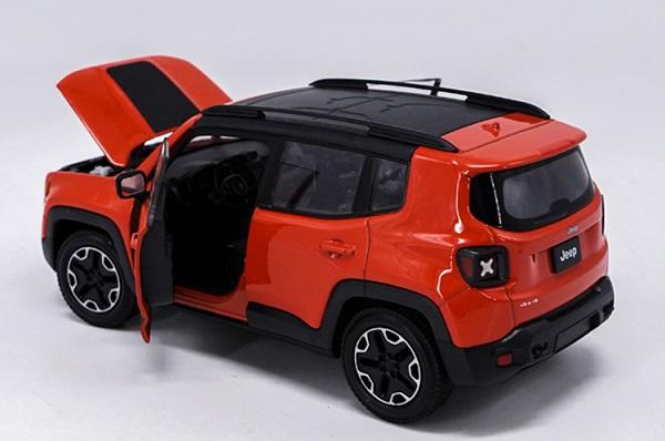โมเดลรถเหล็ก โมเดลรถยนต์ Jeep Renegade Trailhawk red 5