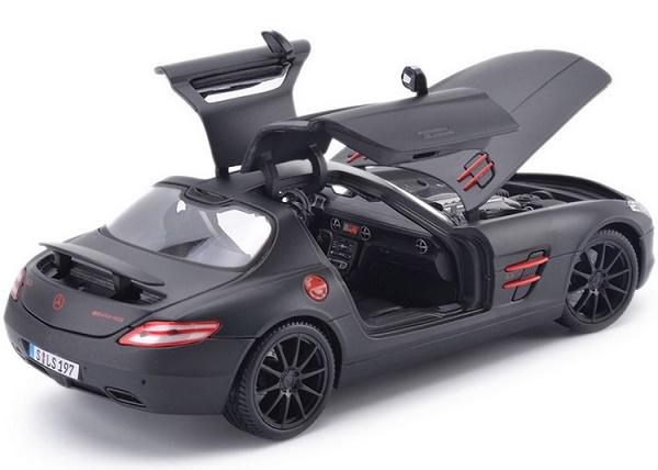 โมเดลรถ โมเดลรถเหล็ก โมเดลรถยนต์ Benz SLS AMG ดำด้าน 5