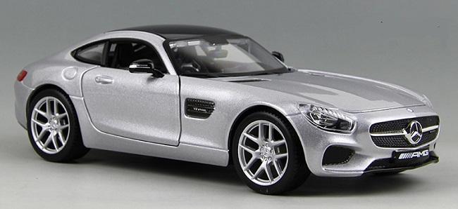 โมเดลรถ โมเดลรถยนต์ โมเดลรถเหล็ก amg gt silver 1