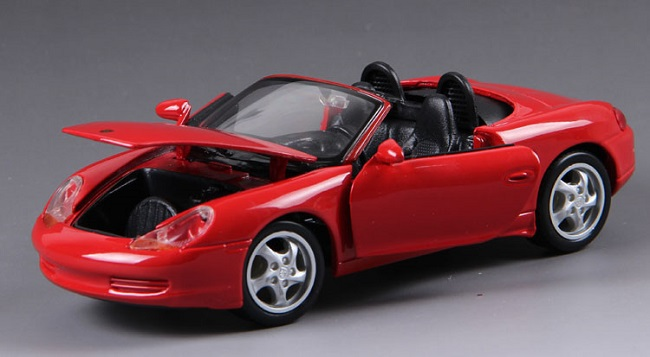 โมเดลรถ โมเดลรถยนต์ โมเดลรถเหล็ก Boxster Cabrio Red 4