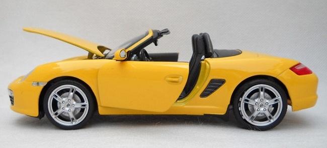 โมเดลรถ โมเดลรถยนต์ โมเดลรถเหล็ก porsche boxster S yellow 6