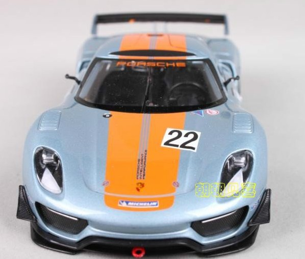 โมเดลรถเหล็ก โมเดลรถยนต์ Porsche 918 RSR 5