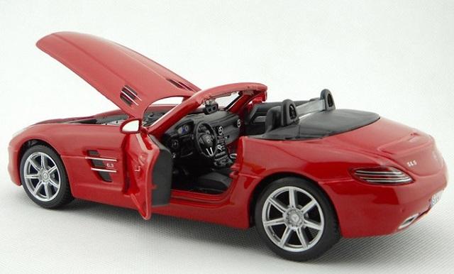 โมเดลรถ โมเดลรถยนต์ โมเดลรถเหล็ก sls amg roadster แดง 5
