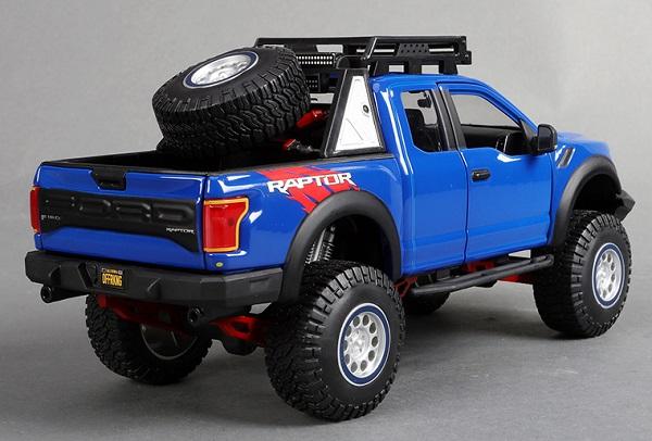 โมเดลรถยนต์ โมเดลรถเหล็ก รถเหล็ก ford raptor blue 2