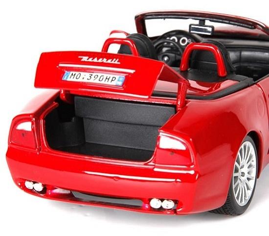 โมเดลรถ โมเดลรถเหล็ก โมเดลรถยนต์ Maserati Spyder red 5