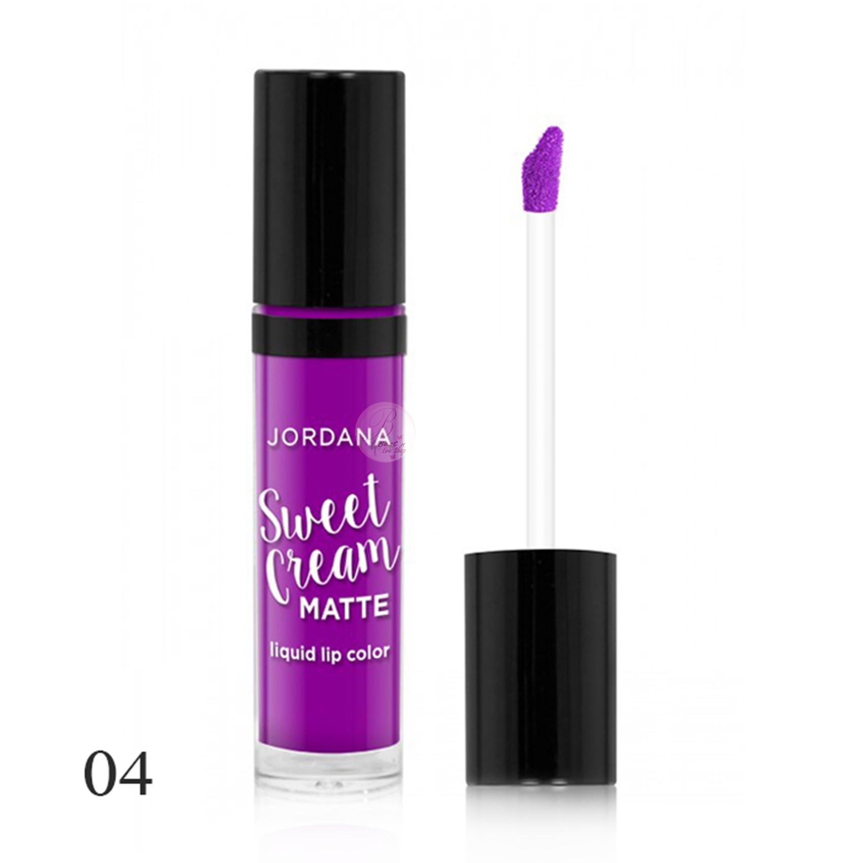 Jordana Sweet Cream Matte Liquid Lip Color # 04 Mixed Berry Souffle 3g
