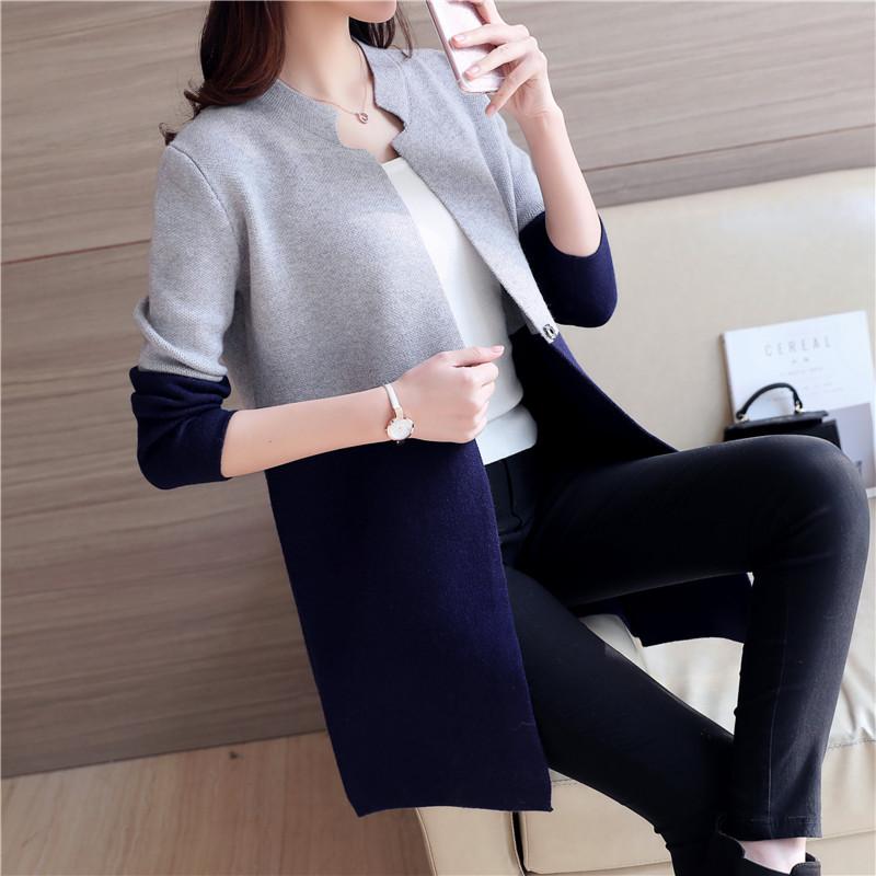 **สินค้าหมด Blouse3616 เสื้อคลุมไหมพรมตัวยาวเนื้อหนานุ่มสีทูโทนเทากรมท่า แขนยาว ไหมพรมถักเนื้อแน่นสวยงานดี ใส่กันหนาว/กันแดด แมทช์กับชุดไหนก็ดูดีจ้า