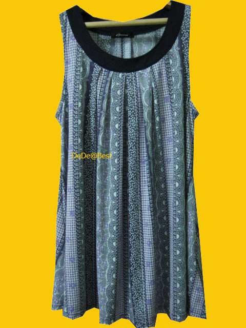 แถมให้คุณลี่ค่ะ D19:Vintage dress เดรสวินเทจแขนกุดลายลูกไม้สีขาวม่วงดำ&#x2764