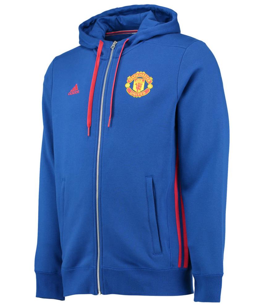 เสื้อฮู้ดแมนเชสเตอร์ ยูไนเต็ด Core Full Zip Hoody สีน้ำเงินของแท้