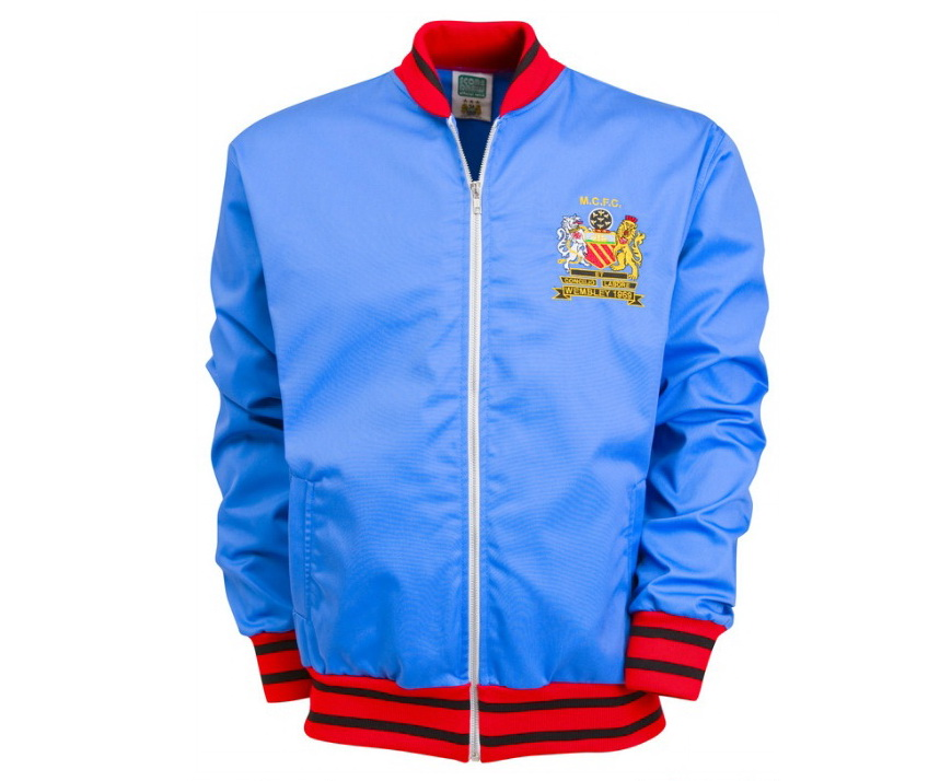 เสื้อ Retro แมนเชสเตอร์ ซิตี้ ของแท้ 100% Manchester City 1969 FA Cup Final Track Jacket เป็นของฝาก ของสะสม ที่ระลึก ของขวัญแด่คนสำคัญ Size: S M L XL XXL