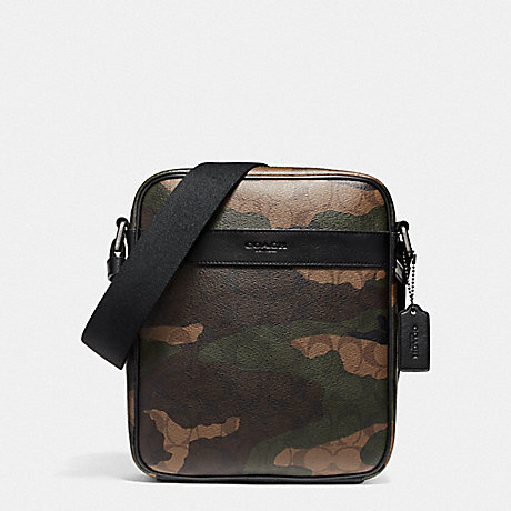 กระเป๋าผู้ชาย COACH CHARLES FLIGHT BAG IN ANIMATED SIGNATURE CAMO PRINT COATED CANVAS F59913