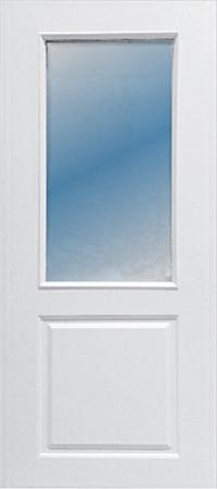 ประตู upvc รุ่น v-series บานกระจก PG004 ขนาด 80x200