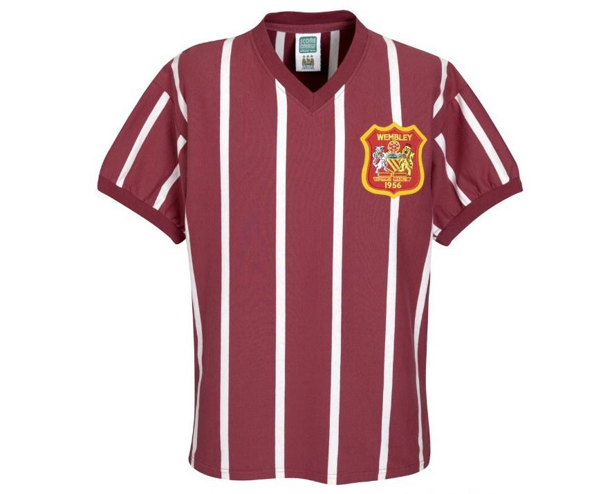เสื้อ Retro แมนเชสเตอร์ ซิตี้ ของแท้ 100% Manchester City 1956 FA Cup Final Retro Shirt เป็นของฝาก ของสะสม ที่ระลึก ของขวัญแด่คนสำคัญ Size: S M L