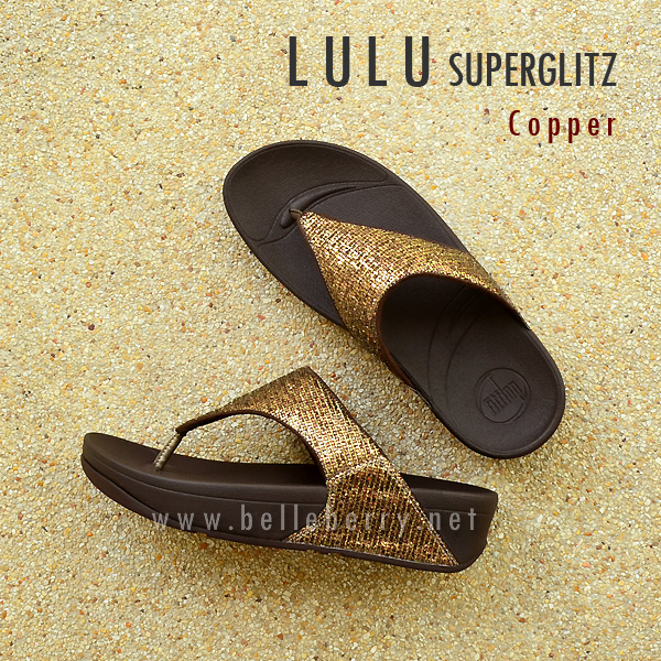 **พร้อมส่ง** FitFlop LULU Superglitz : Copper : Size US 8 / EU 39