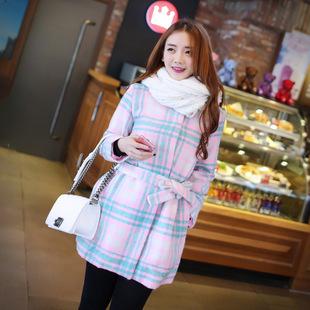 """size M""""พร้อมส่ง""""เสื้อผ้าแฟชั่นราคาถูกสไตล์เกาหลี เสื้อโค๊ทลายสก๊อตโทนชมพูอ่อน เขียว กระดุมแป๊ก 3เม็ด มีซับใน มีผ้าคาดเอวสีเดียวกับชุดให้ด้วยค่ะ -size M"""
