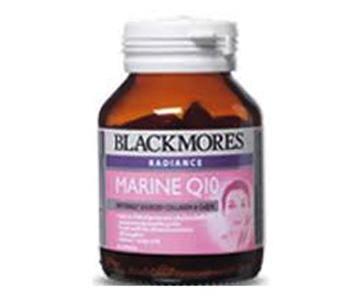 Blackmores Radiance Marine Q10 30 แคปซูล เน้นสารอาหารบำรุงผิว ทำให้ผิวกระจ่างใสอมชมพู