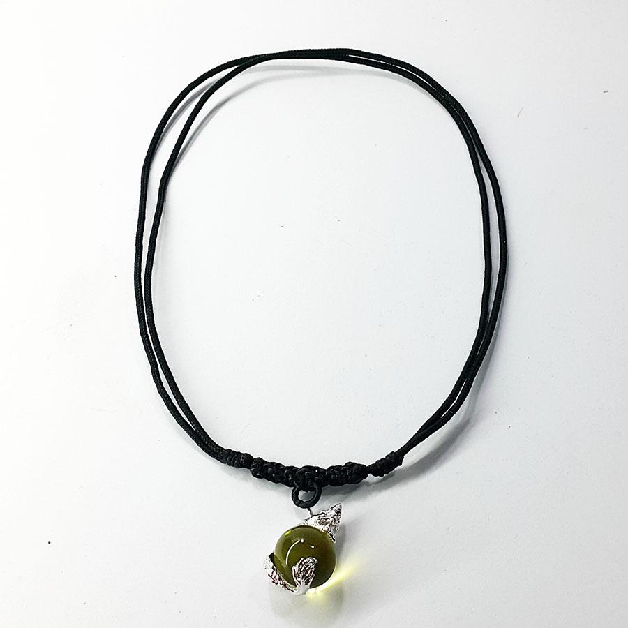 Inspire Jewelry จี้พญานาคอุ้มแก้วสารพัดนึกพร้อมสร้อยคอเชือกเทียนปรับความยาวได้