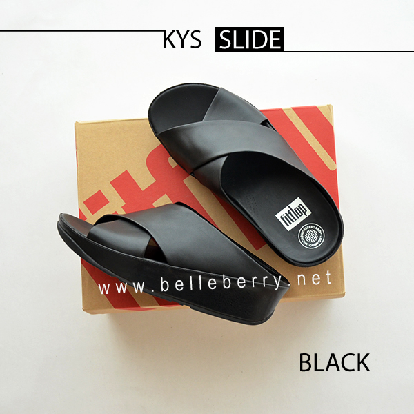 * NEW * FitFlop : KYS Slide : All Black : Size US 5 / EU 36