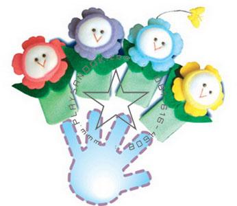 TY-5046 หุ่นนิ้วมือชุดดอกไม้แสนสวย