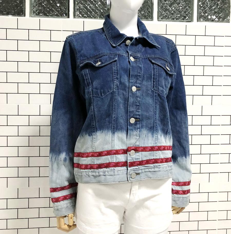 ส่ง:งานจีนเสื้อคลุมแจ็คเก็ตยีนส์แท้แบบเก๋ๆสวยๆ/อก40