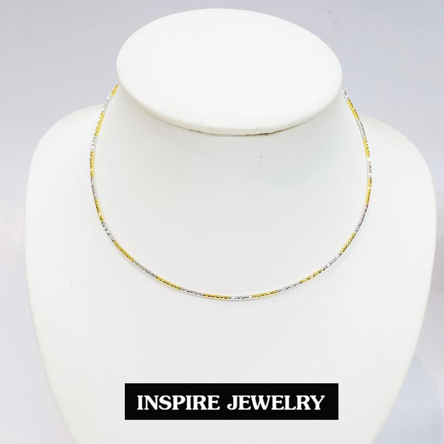 inspire jewelry โชคเกอร์คอ CH01-2กษัิตริย์แบบสปริงตัดลายวิ้งๆ