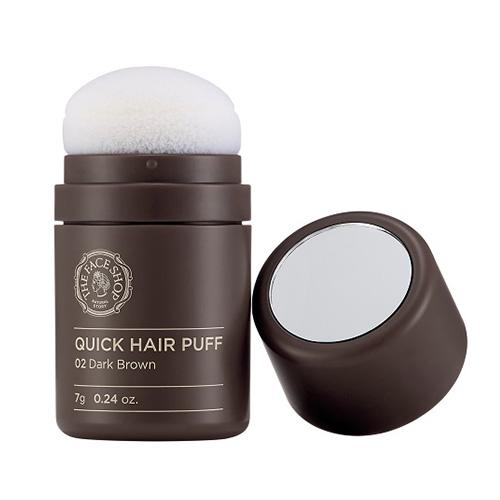 (พร้อมส่ง) The Face Shop Quick Hair Puff 7g # 02 Dark Brown