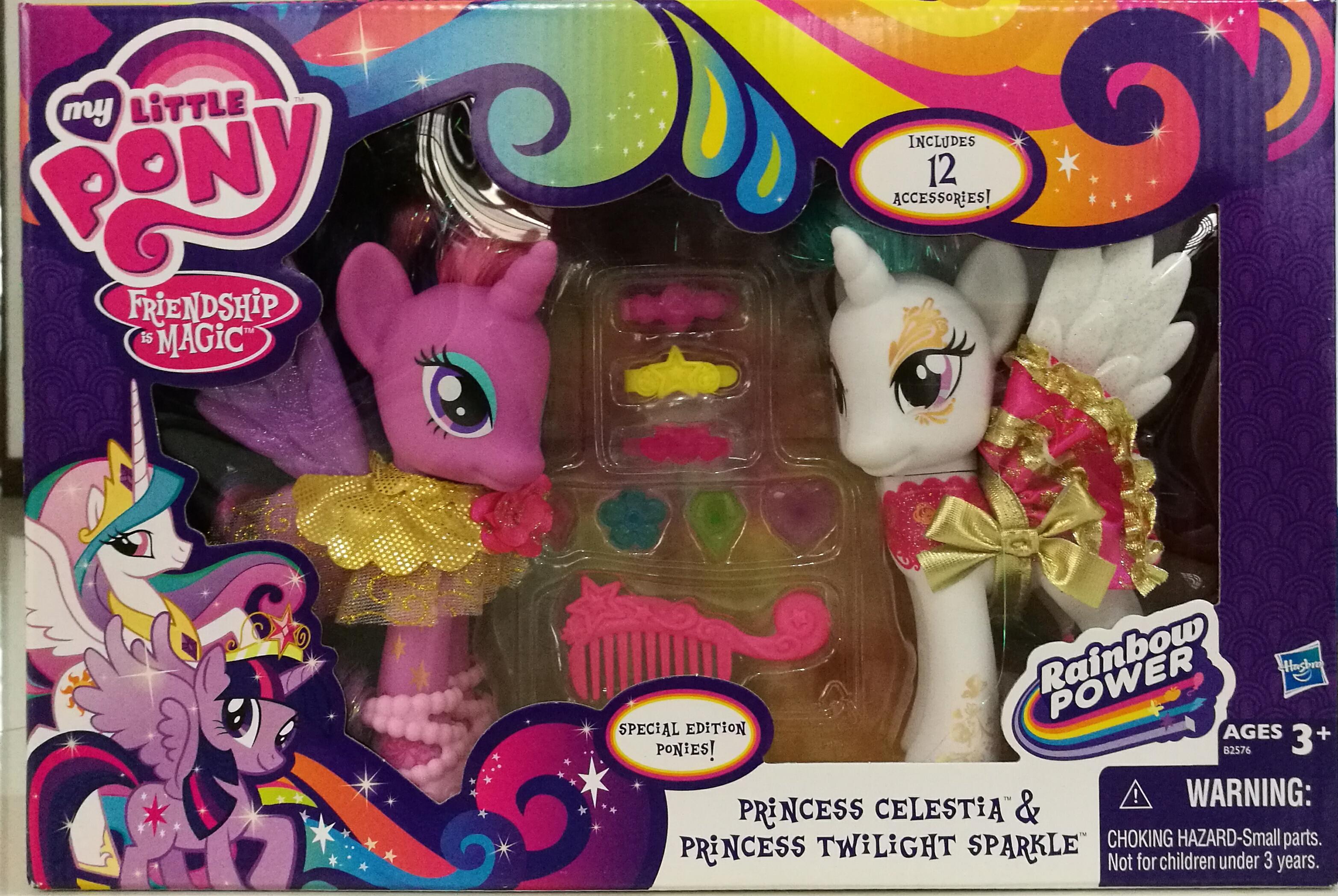 พร้อมส่งของเล่นเด็กตุ๊กตา My little pony princess celestia& princess twilight sparkle ของแท้ ส่งฟรี
