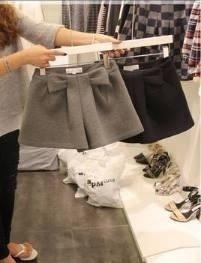 กางเกงผ้าสักหลาดดีไซน์ รูปโบว์เก๋