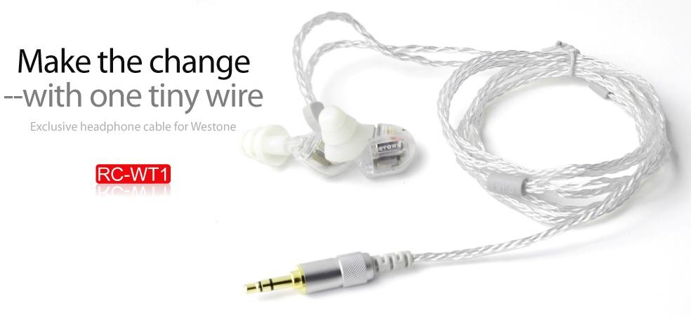 ขายสาย FiiO RC-WT1 สายแบบถักสำหรับเปลี่ยนหูฟัง Westone W4R,UM3XRC /JH Audio JH13,JH16 /Earsonics SM64 คุณภาพดีเยี่ยมในราคาเบาๆ