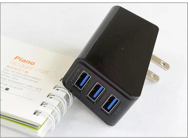 adapter 10w ที่ชาร์จ มือถือtablet ipad มีusb 3ช่อง 3.0