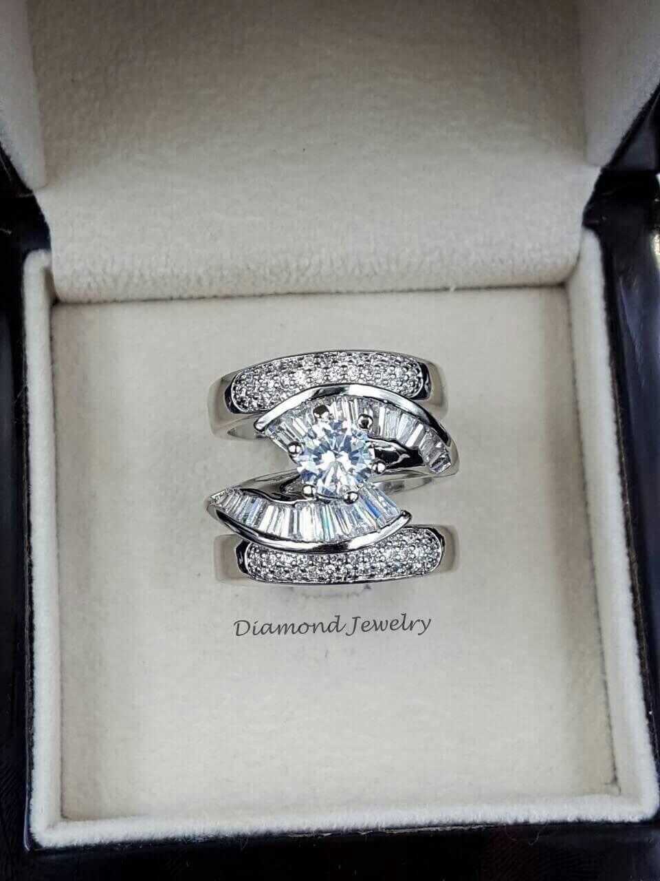 พร้อมส่ง Diamond Ring งานเพชร CZ แท้ แหวนเซตมี 3 วงคะ