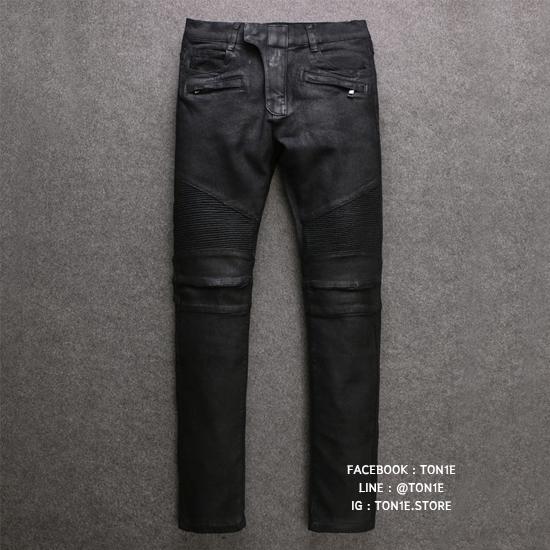 กางเกงBalmain Coated Biker Denim Jeans (รุ่นมีแว๊กซ์เคลือบ)