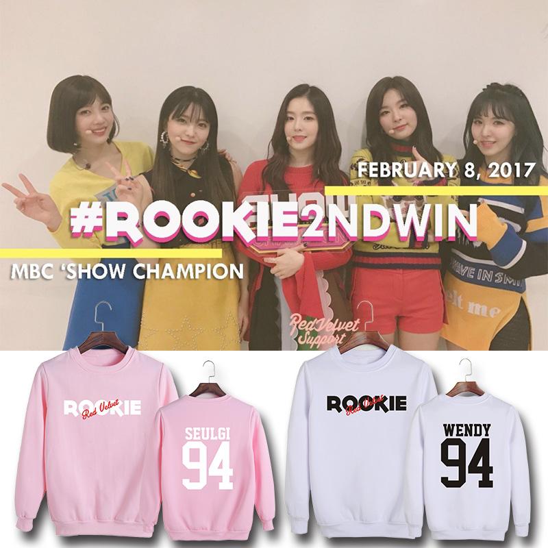 เสื้อแขนยาว Red Velvet mini4 ROOKIE -ระบุสี ไซส์ สมาชิก-