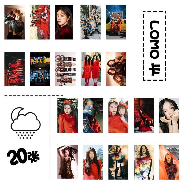 การ์ด LOMO 20รูป+ไม้หนีบ Red Velvet Peek-A-Boo