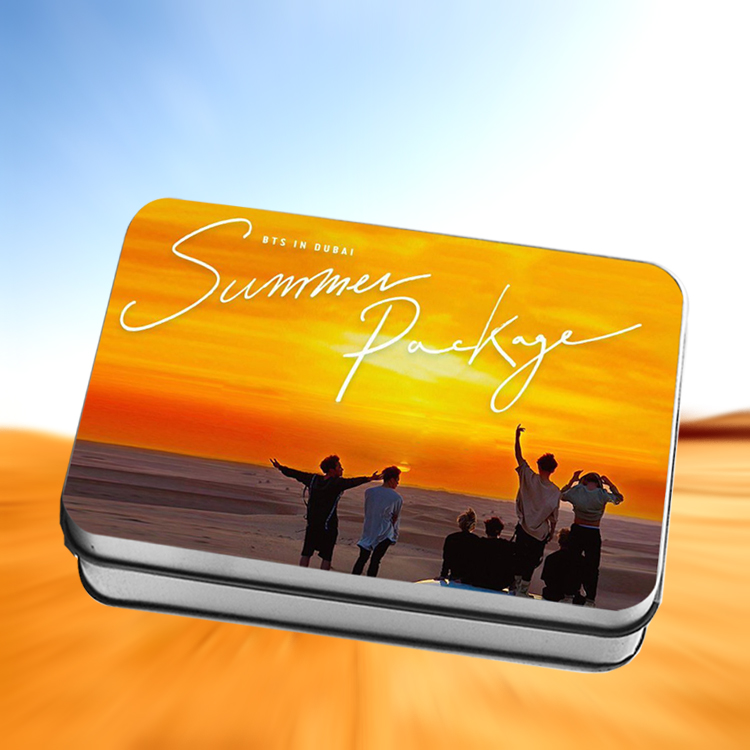 LOMO CARD +กล่องเหล็ก BTS SUMMER PACKAGE IN DUBAI 30แผ่น