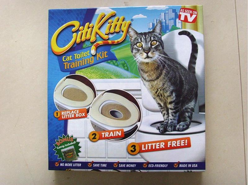 อุปกรณ์ฝึกขับถ่าย เข้าห้องน้ำแมว