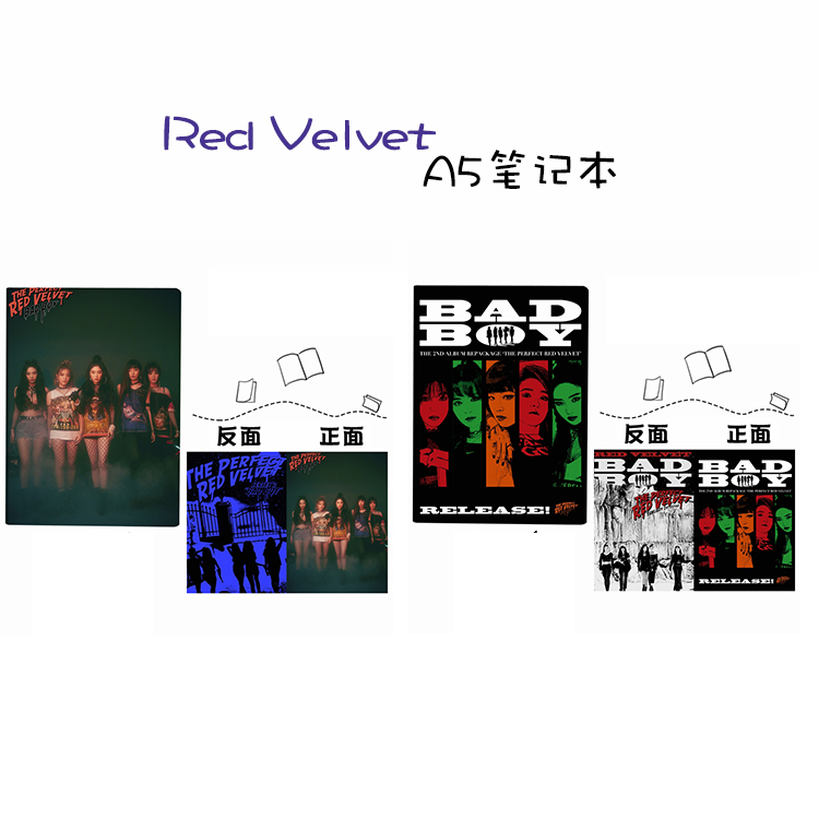 สมุดโน๊ต RED VELVET BADBOY
