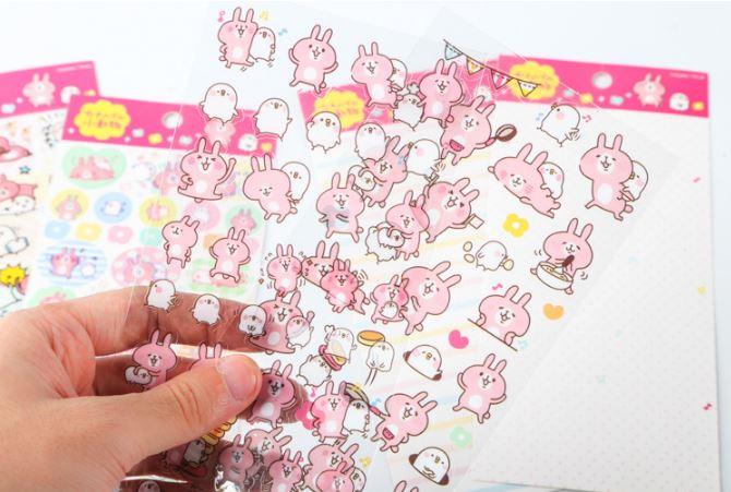(เซ็ต 4 แผ่น) Kanahei Sticker Set #Pink