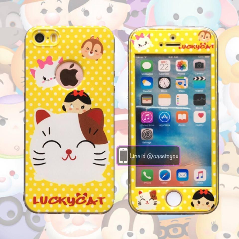 เคสประกบหน้าแข็ง หลังนิ่ม Maneki Neko iPhone 7