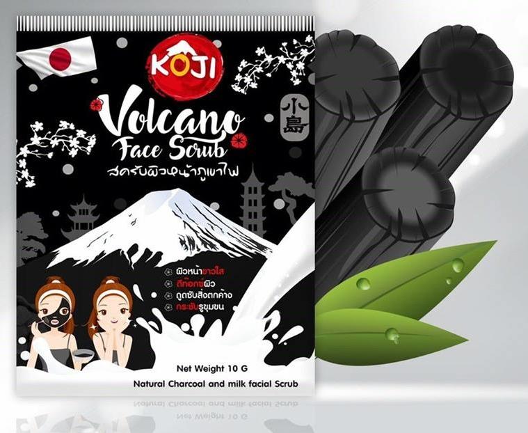 สครับผิวหน้าภูเขาไฟ บายโกจิ 10 กรัม Volcano Face Scrub by Koji