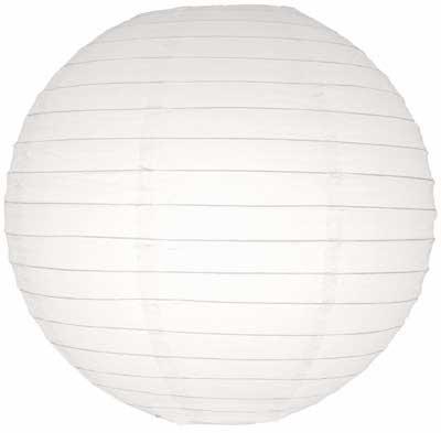 20 cm. โคมไฟกระดาษ ขาว