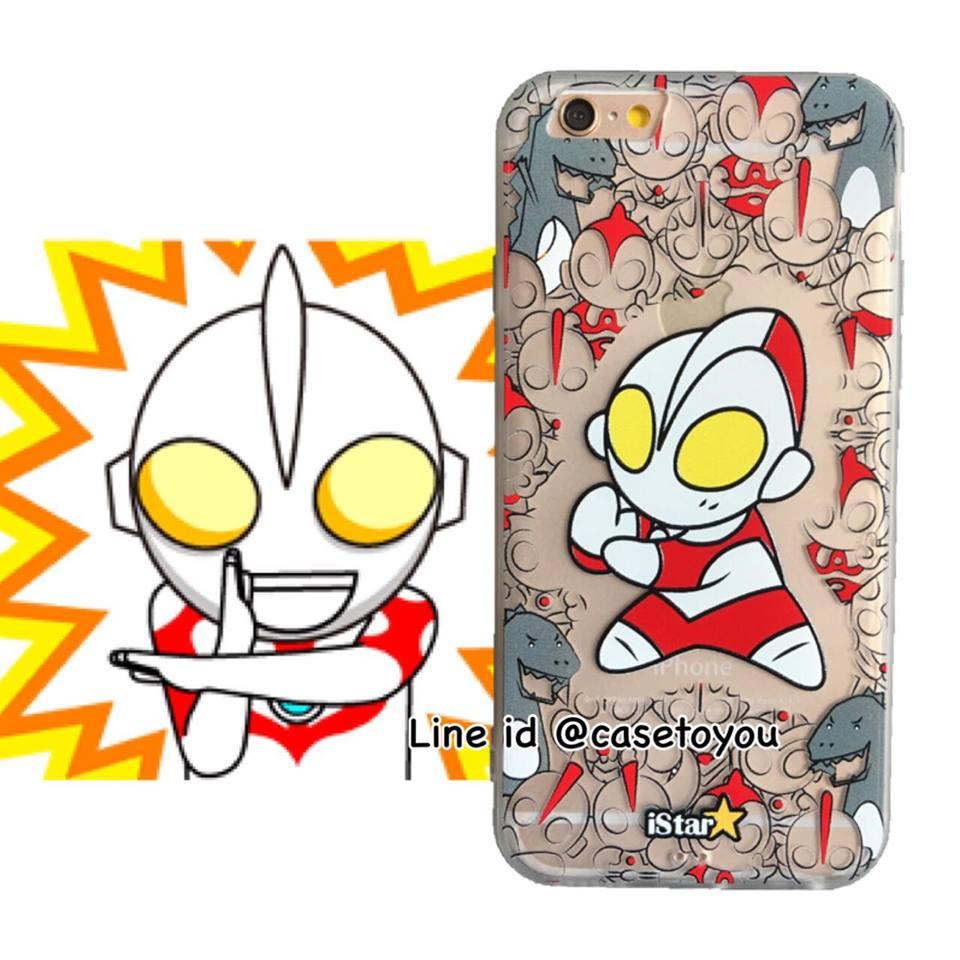 เคสใส สกรีนลายเส้นนูน Ultraman iPhone 6/6S