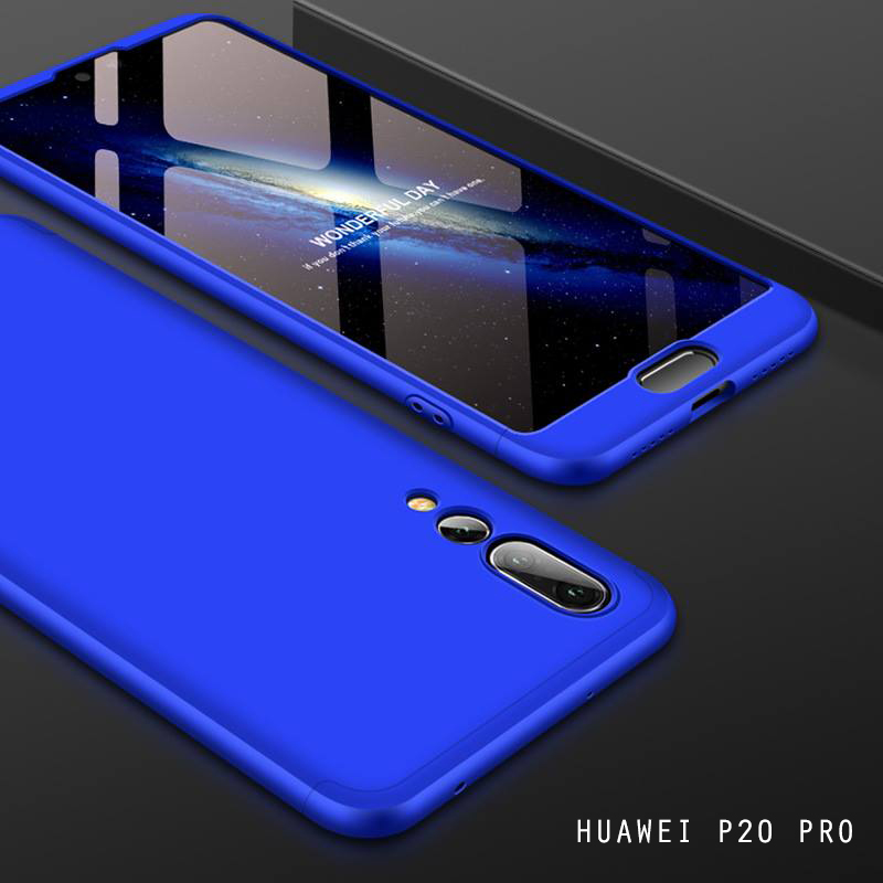 เคส Huawei P20 PRO เคสแข็งแบบ 3 ส่วน ครอบคลุม 360 องศา (สีน้ำเงิน - น้ำเงิน)