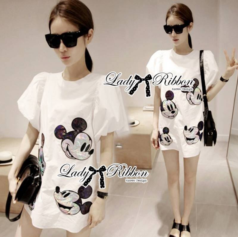 Lady Mickey Playful Casual White Dress L163-65C09
