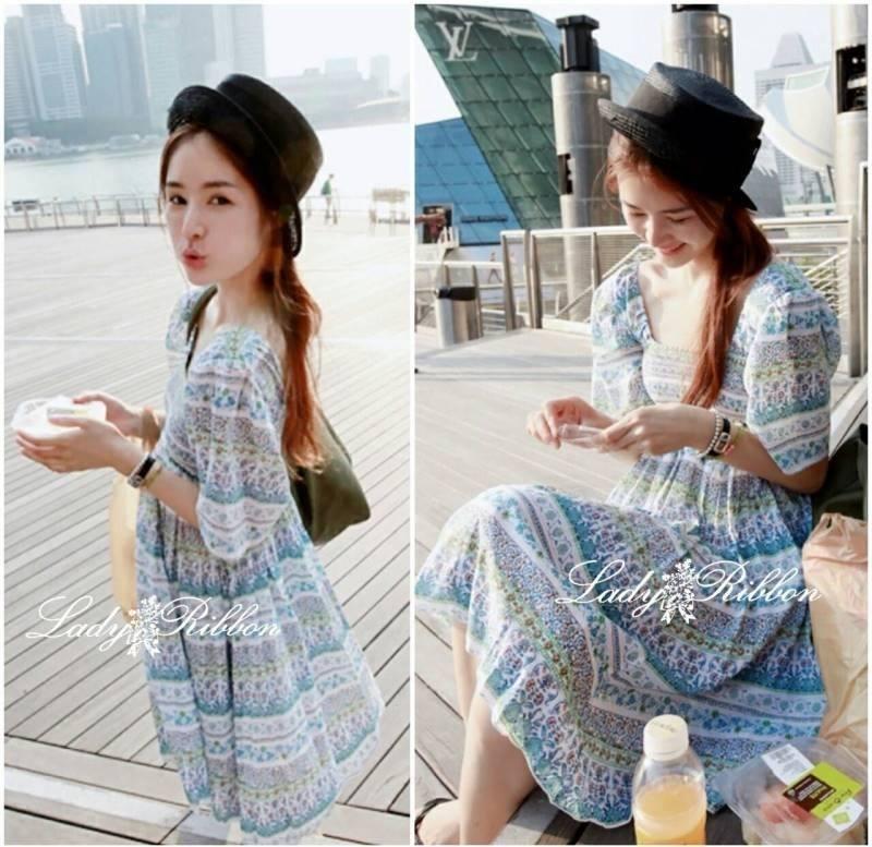 Lady Allo Hawaii Mini dress, Partysu Korea L135-59A09