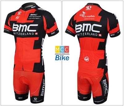 ชุดปั่นจักรยาน แบบชุดทีมแข่ง ทีม BMC ขนาด M พร้อมส่งทันที รวม EMS