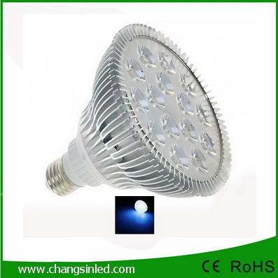 ไฟ LED E27 PAR38 Aluminium 15w แสงนํ้าเงิน